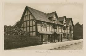 shakespeare faq shakespeare library 1896 print of shakespeare s birthplace by stas waley