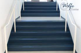 06 commercial roppe rubber flooring on stair treads risers and stringers