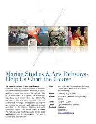 Mnit Org Chart Marine Studies Arts Pathways Help Us Chart The Course