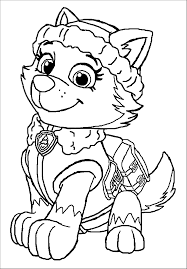 Small Picture Everest Paw Patrol Free Coloring Page Animals Kids Paw Patrol