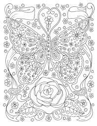 Vlinder Kleurplaat Pagina Volwassen Kleuren Boek Digitale Etsy