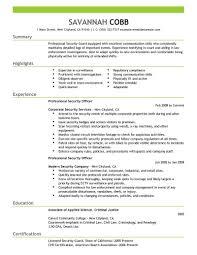 Security Guard Supervisor Resume Resume Work Template