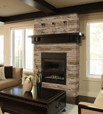 Mortarless Stone Veneer is a great way to update a fireplace. ...