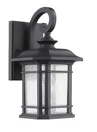 black outdoor wall lights provide good illumination for the outdoor surroundings