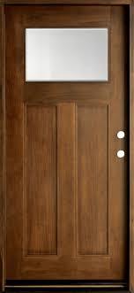 Front Door Custom Single Solid Wood with Walnut Finish