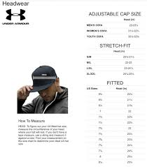 Under Armour Baseball Cap Size Chart Size Chart Under Armour