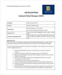 10+ Retail Job Description Templates - Pdf, Doc | Free & Premium ...