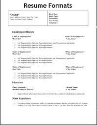 type of resume 14330