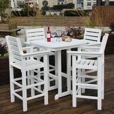 polywood reg captain 5 pc recycled plastic bar height dining set com