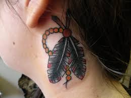 Tattoos Side Neck Tattoos For Guys Smart Grey Ink Feathers Side