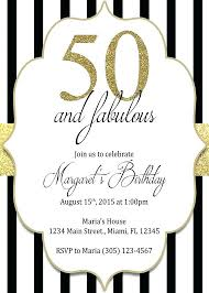 Sample Of 50th Birthday Party Program Invitations For Female 50th Birthday Party Invites As Well