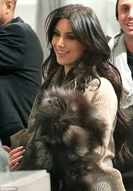 is that a new pet kim kardashian stepped out in new york last night holding