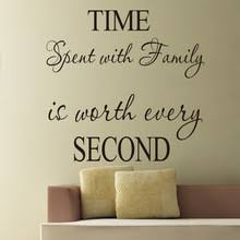 Letter Quotes Time Spent With Family Is Worth Every Second Vinyl Wall Decals for Room Decoration 220x220