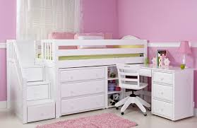 low loft bunk beds for kids and desk