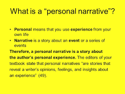 "personal essays personal narratives what is a ""personal  what is a personal narrative"