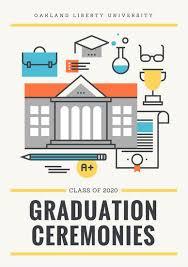 Graduation Program Template Pdf Customize 132 Graduation Program Templates Online Canva