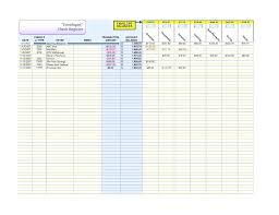 Large Check Register Template Free Printable Ledger Pages