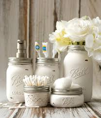 How To Decorate A Jar Mason Jar Bathroom Storage Accessories Mason Jar Crafts Love 75