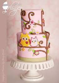 Girl Diaper Cakes  AllDiaperCakesOwl Baby Shower Cakes For A Girl