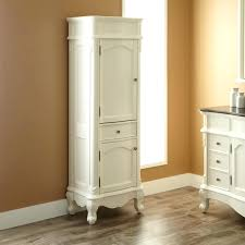 Best Bath Decor bathroom floor cabinets storage : Linen Floor Cabinet Classic And Antique White Wood Stained ...