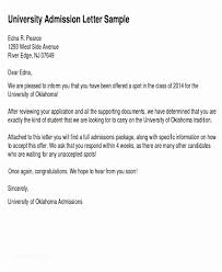 College Acceptance Letters Adorable College Acceptance Letters New College Admission Letter Examples 48
