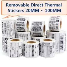 <b>Removable Direct Thermal</b> Label Waterproof Labels 40*30 50*30 ...