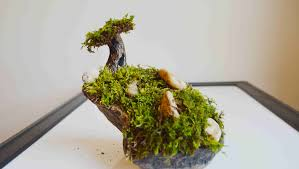 How To Make A Moss Tree \u0026 Garden With Polymer Clay - YouTube