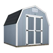 8 ft x 8 ft prefab wooden storage shed with floor
