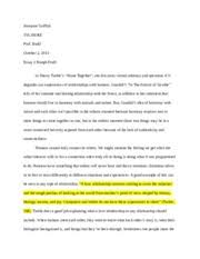 essay klein vs bremmer first paragraph autosaved griffith  4 pages essay 2 turkle vs goodall