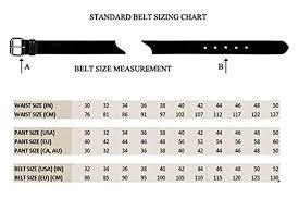 Belt Size 110 Chart Woodland Mens Leather Belt Size 36