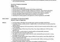 Manufacturing Engineer Resume Examples Manufacturing Engineer Resume Samples Velvet Jobs Resume