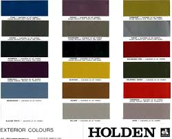 Vf Commodore Colours Chart True To Life Holden Paint Chart Old Holden Paint Codes