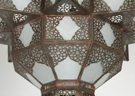 large moroccan star shape frosted glass chandelier shade 3
