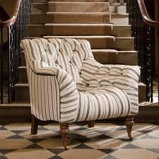 tetrad upholstery yale chair in ralph lauren signature fabrics merrion stripe