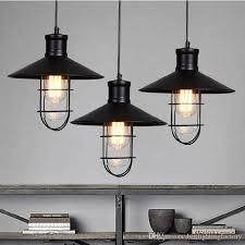 black rustic pendant lights vintage industrial pendant lamp led pendant light birdcage lamps warehouse kitchen corridor bar study lighting multi light