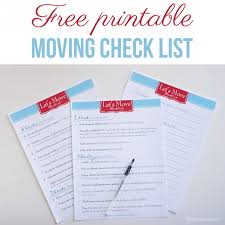 Free Printable Moving Checklist I Heart Nap Time