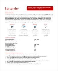 Bartending Resume Examples Custom Bartender Resume Template 28 Free Word PDF Document Downloads