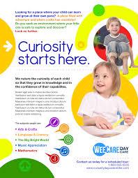 Child Care Brochure Design Marketing Day Care Pamphlet Design School Brochure