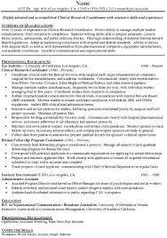Clinical Research Coordinator Resume Sample Research Coordinator