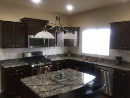 Kitchen With Dark Cabinets Dark Cabinets And Dyi Mother Of Pearl Kitchen Backsplash Mother