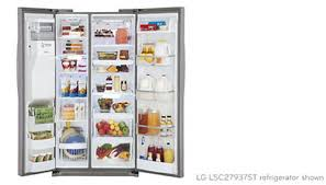 lg refrigerators lowes. get more space for groceries in a great feature-packed refrigerator. nothing beats the convenience of having food when you need it, and with generous lg refrigerators lowes