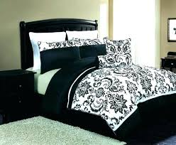 black and white damask king size bedding 8 sheets comforter on black white damask comforter and bedding set