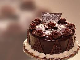 Chocolate Birthday Cake With Flowers Hd Wallpaper Background Images