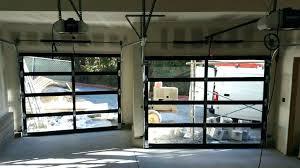 Full View Garage Door Commercial Glass Doors For Modern Concept Aluminum Clear