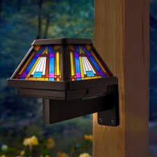 moonrays 91241 inglenook solar stained glass led post cap light brushed copper finish com