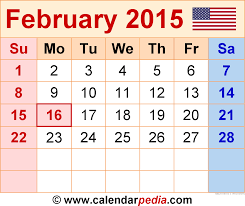 february 2015. Unique February Calendar February 2015 With Calendarpedia