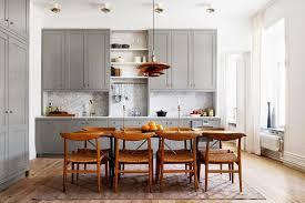 One Wall Kitchen Layout Kitchen Kitchen Dining Designs With Natural Wood Kitchen Cabinet