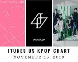 Itunes Us Itunes Kpop Chart November 15th 2019 2019 11 15