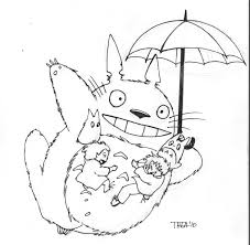 Small Picture Totoro Coloring Pages To Download And Print For Free Coloring Home