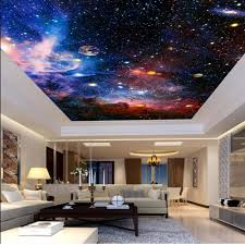 3d Ceiling Design Wallpaper Us 9 99 50 Off 3d Universal Star Wallpapers For Ceilings Sitting Room Living Room Wall Decor Wallpaper For Walls 3d Custom Any Size Sticker In
